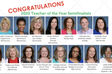 Congratulations 2020 Teacher of the Year Semifinalists