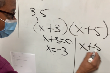 YMWLA algebra teachers discusses his approach to helping students master math