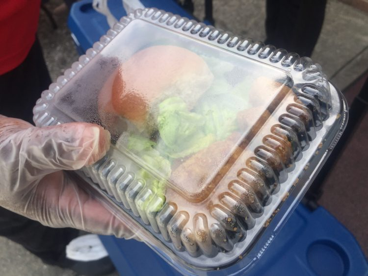 Photo shows an example of a grab-and-go school meal made available to students since pandemic